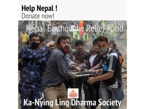 Ka Nying Lin Dharma Society, Nepal Earthquake Releaf Fund